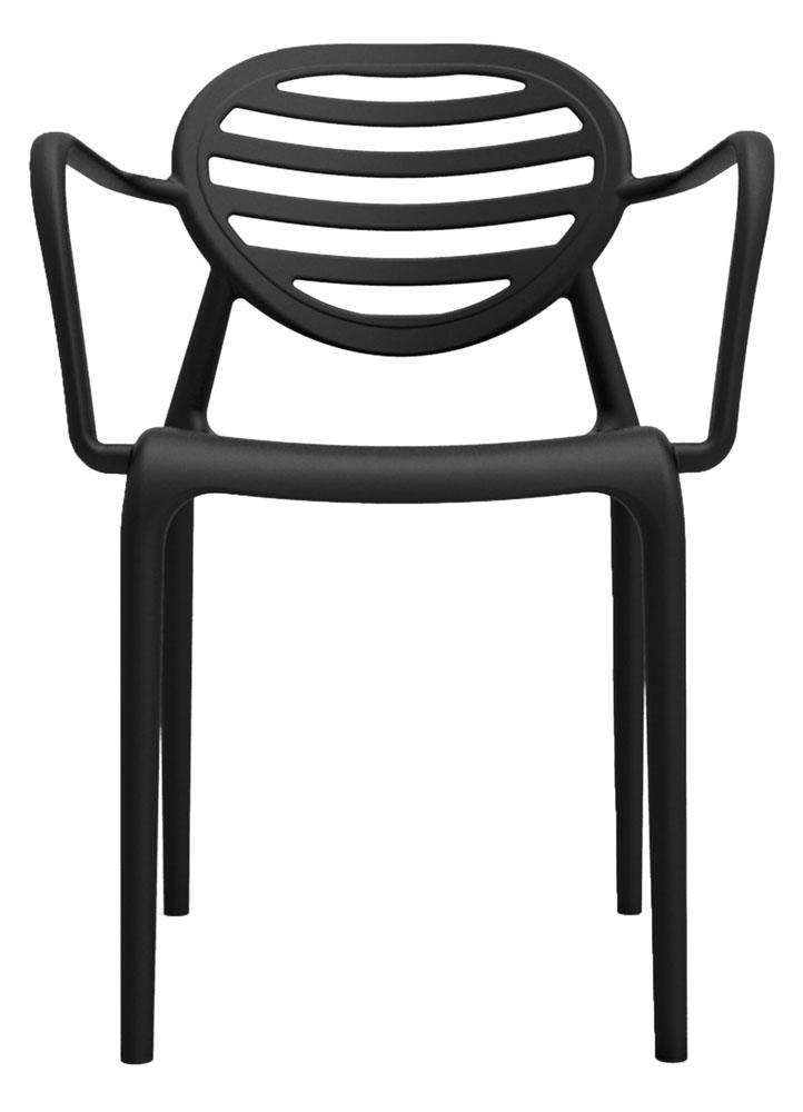 Kit 2 Cadeiras Stripe com braço preto