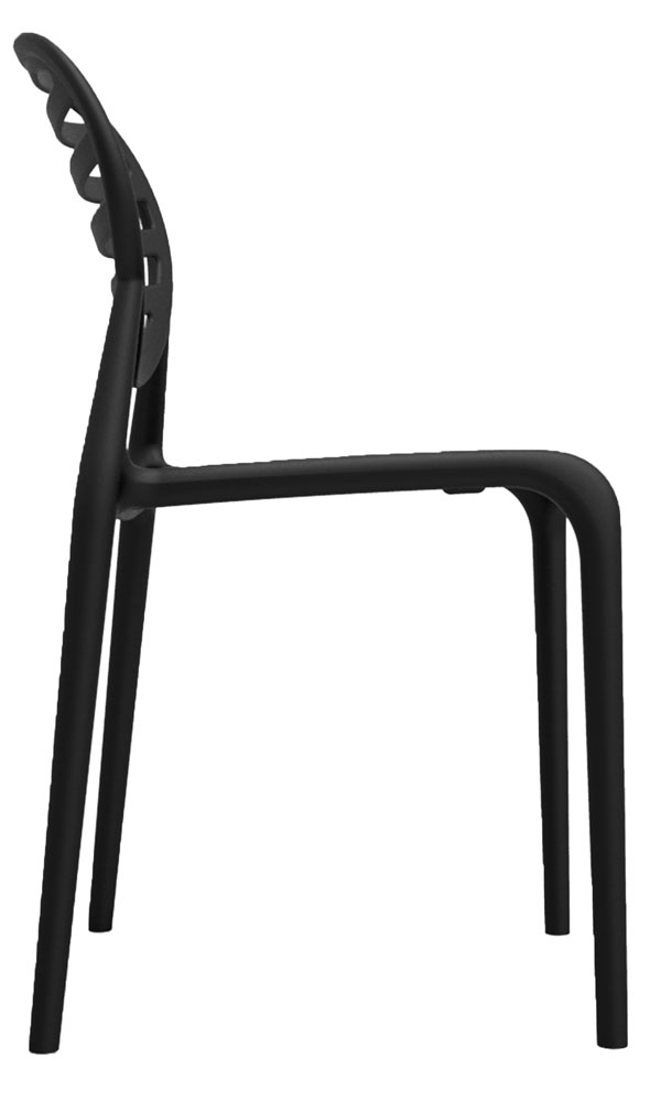 Kit 2 Cadeiras Stripe preto