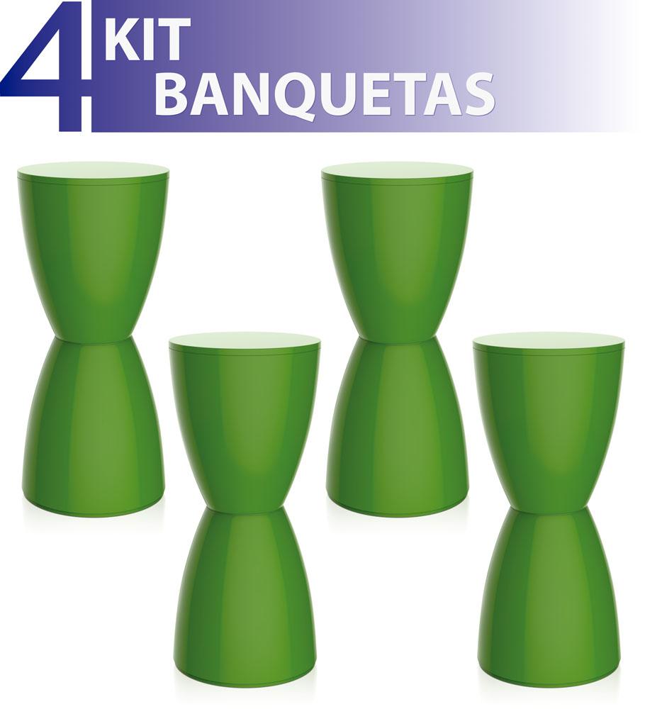 KIT 4 BANQUETAS BERY COLOR VERDE
