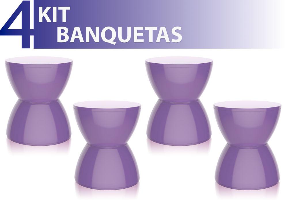 KIT 4 BANQUETAS HYDRO COLOR ROXO
