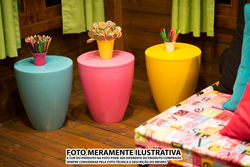 Kit 4 Bancos Moly colorida amarelo