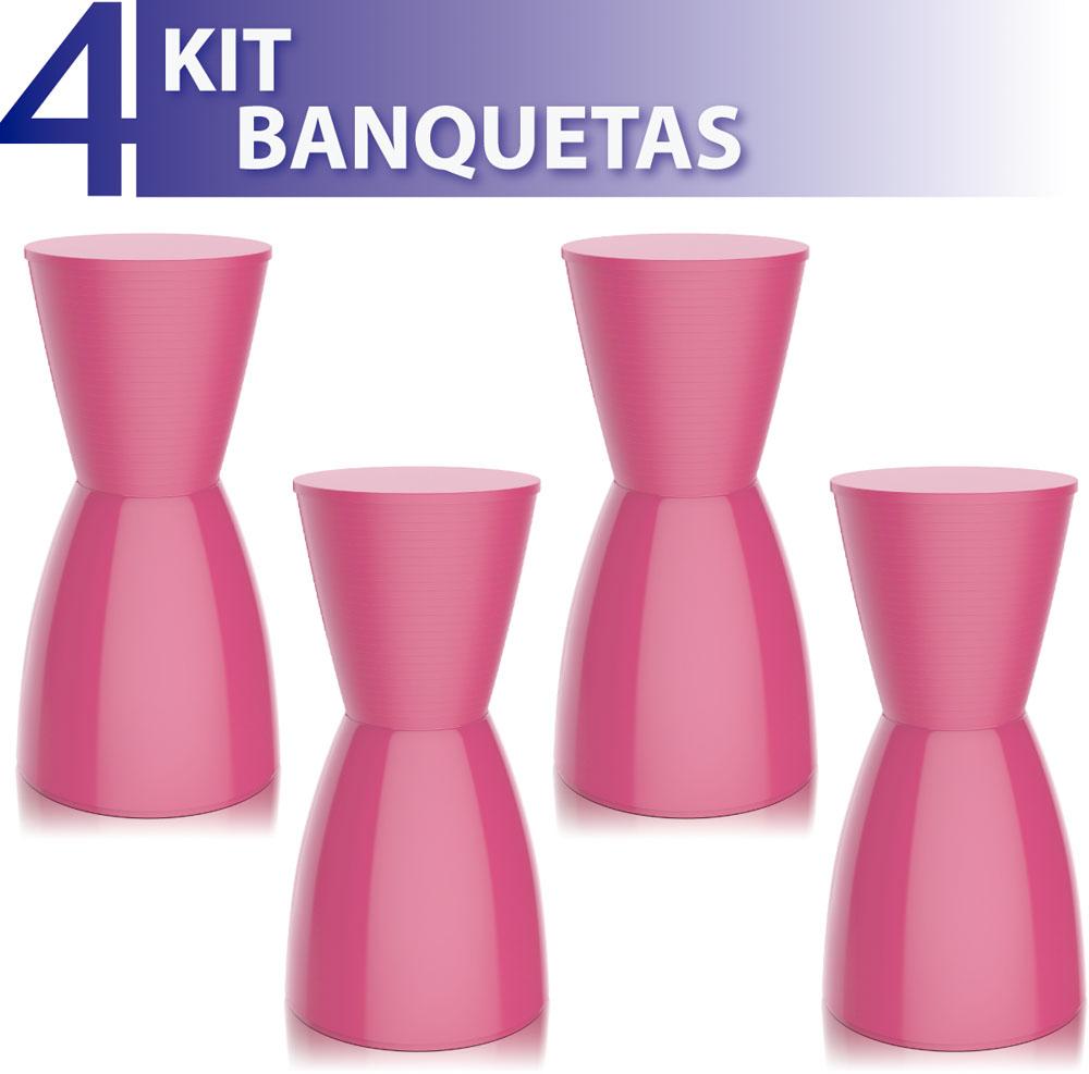 KIT 2 BANQUETAS SILI ASSENTO CRISTAL BASE COLOR BRANCO