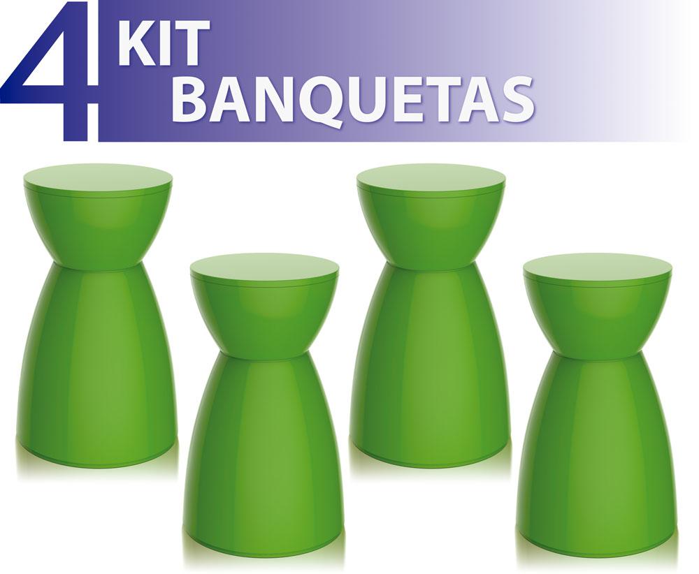 KIT 4 BANQUETAS RAD COLOR VERDE