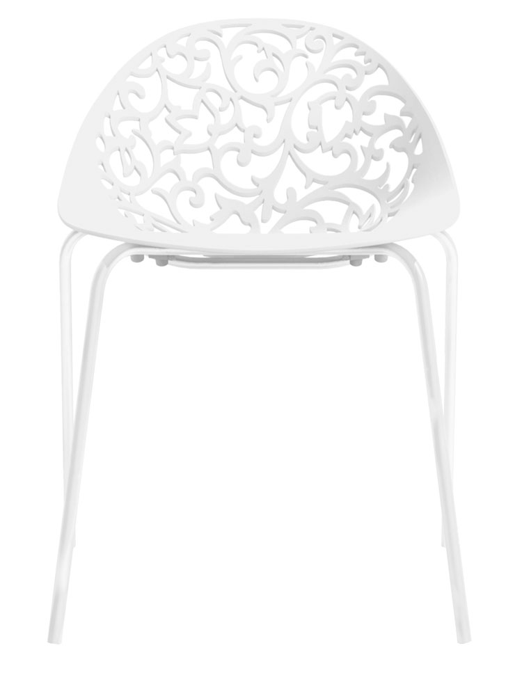 Kit 4 Cadeiras Fiorita branco