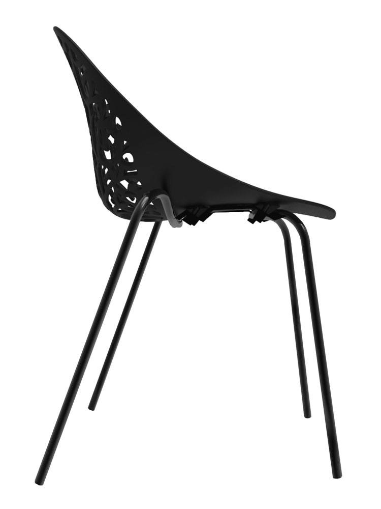 Kit 4 Cadeiras Fiorita preto