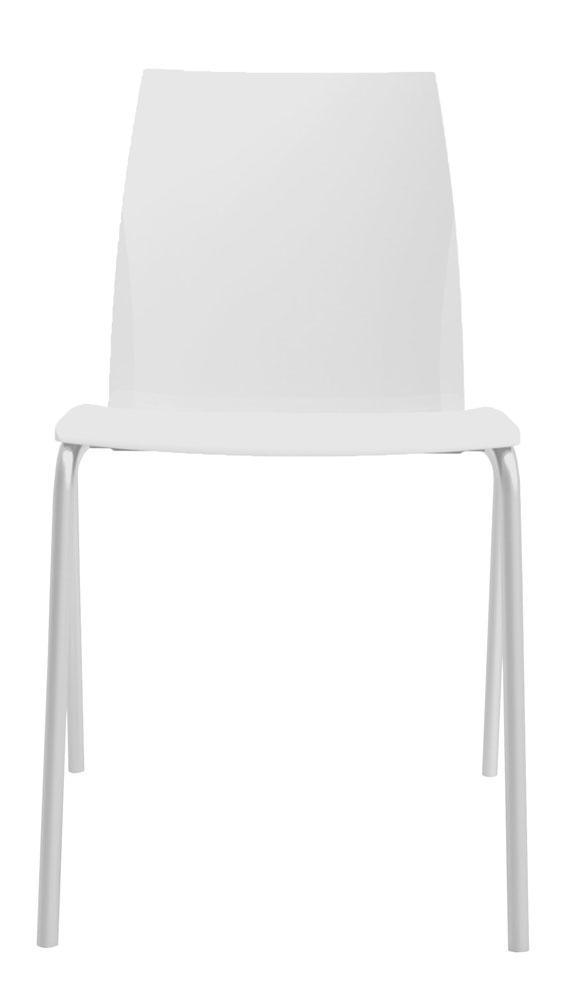 Kit 4 Cadeiras Loft branco