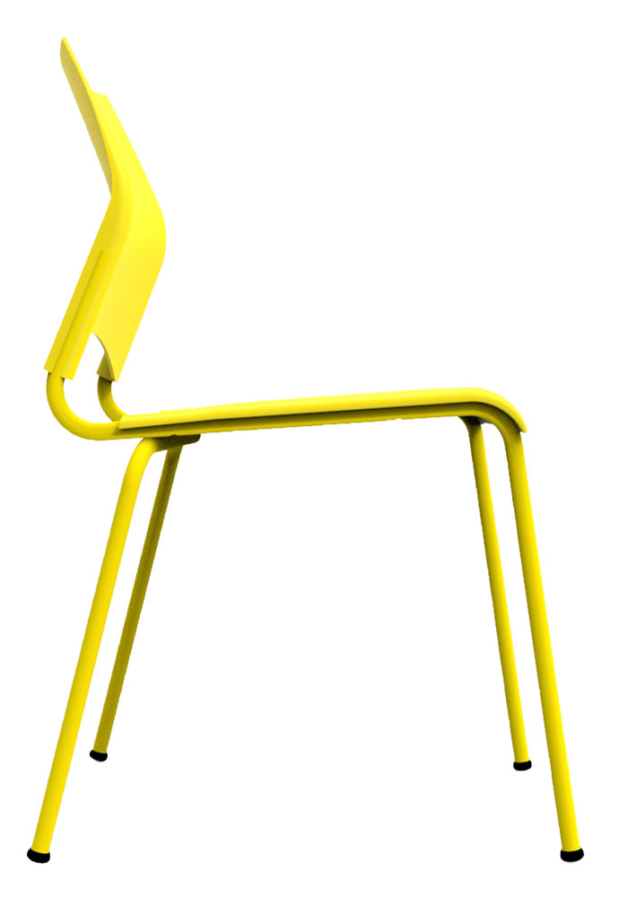 Kit 4 Cadeiras Paladio amarelo