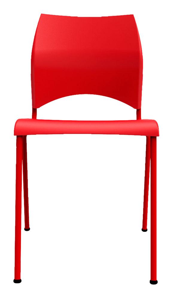Kit 4 Cadeiras Paladio vermelho