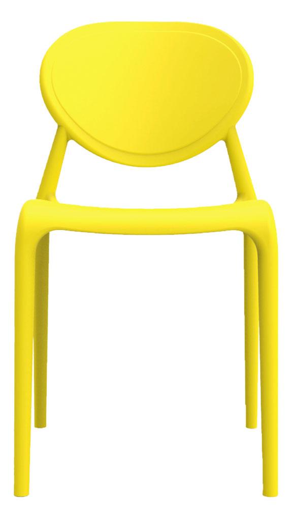 Kit 4 Cadeiras Slick amarelo