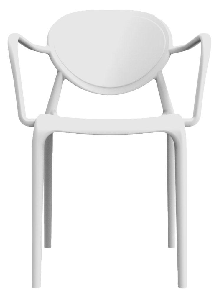 Kit 4 Cadeiras Slick com braço branco