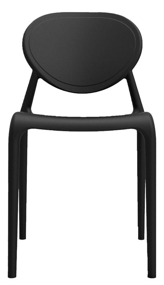 Kit 4 Cadeiras Slick preto