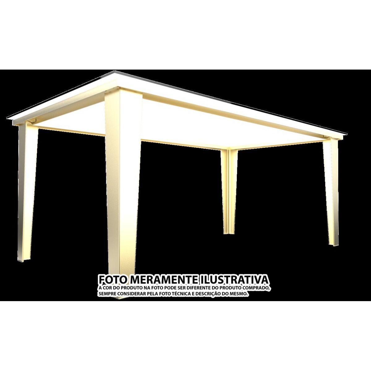 BASE DE MESA DRITTO 1 X 1,8M - 8 LUGARES OURO
