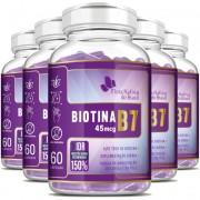 Biotina B7 45mcg - 05 Potes com 60 cápsulas