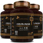 Cavalinha Original Mu Zei - 100% Vegano - 300mg - 03 Potes