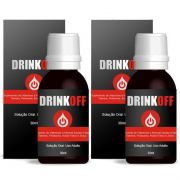 Pare de Beber - DrinkOff para Parar Beber - Anti-álcool - 02 Frascos - (Original) 7% OFF