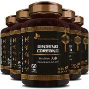 Ginseng Coreano (Ren Shen) 100% Vegano - 500mg - 5 Potes