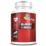 Goji Berry e Hibisco 500mg - Fórmula Potencializada - 60 cápsulas de 500mg