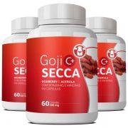 Goji Secca C+ Emagrecedor   Original - 500mg   03 potes