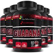 Guaraná 100% Puro - 500mg - 05 Potes (300 cápsulas)