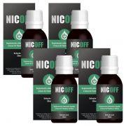 NicOff Gotas - Original - Tratamento Completo para Parar de Fumar - 4 Frascos