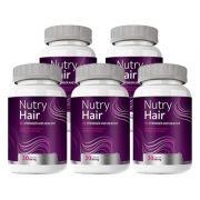Nutry Hair Original | Vitamina para Cabelos - 05 Potes