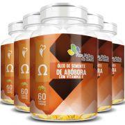 Óleo de Semente de Abóbora com Vitamina E - 1000mg - 05 Potes