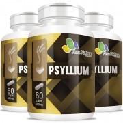 Psyllium - 03 Potes com 60 cápsulas de 500mg (cada)