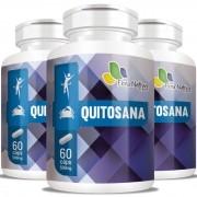 Quitosana 500mg - 03 Potes com 60 cápsulas (cada)