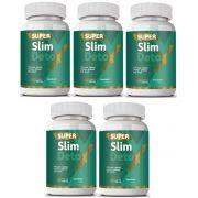 Super Slim Detox - Emagrecedor - Original   500mg   05 Potes