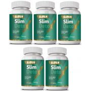 Emagrecedor Super Slim Detox - Original | 500mg | 05 Potes