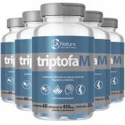TriptofaM 450mg - 05 Potes com 60 cápsulas