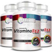 Vitamina B12 - 500mg - 3 Potes