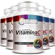 Vitamina C em cápsulas de 500mg - 5 Potes