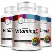 Vitamina E Concentrada - Cápsulas de 250mg - 03 Potes