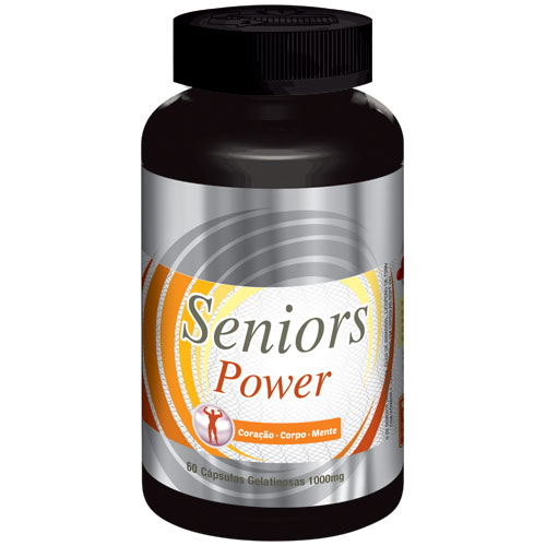 Seniors Power - Original -1000mg | Estimulante Sexual Masculino | 01 Pote  - LA Nature