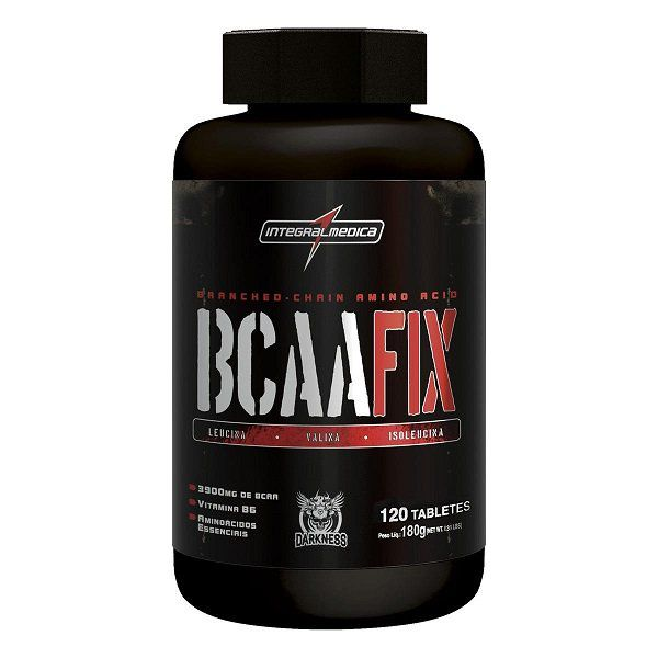 BCAA Fix Darkness - 120caps - Integralmedica  - LA Nature