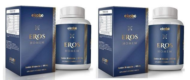 Eros Homem Original Estimulante Sexual Masculino - 2 Potes