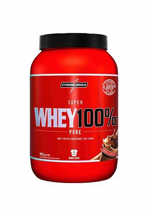 Super Whey 100% Pure 907 g Body Size - Integralmédica - Unissex - Chocolate  - LA Nature