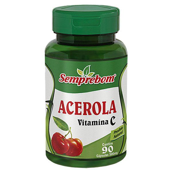 Acerola (Vitamina C) Original 500mg - 1 Pote (90 cápsulas)
