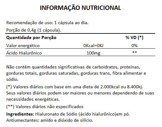 Ácido Hialurônico | MaxPure Line - 400mg (100mg de AH) - 03 Potes  - LA Nature