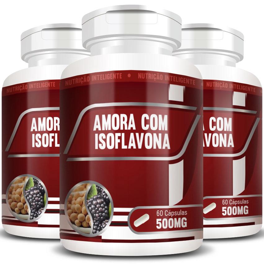 Amora com Isoflavona Original 500mg - 3 Potes (180 cápsulas)