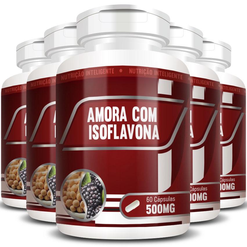 Amora com Isoflavona Original 500mg - 5 Potes (300 cápsulas)