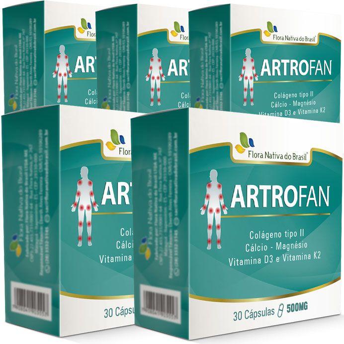 Artrofan - Original - 500mg - 05 Caixas (150 cápsulas)  - LA Nature