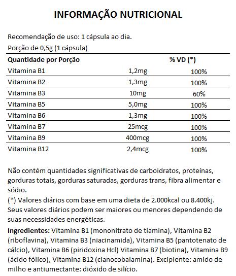 B-Complex (Complexo B)  60 cápsulas de 500mg  - LA Nature