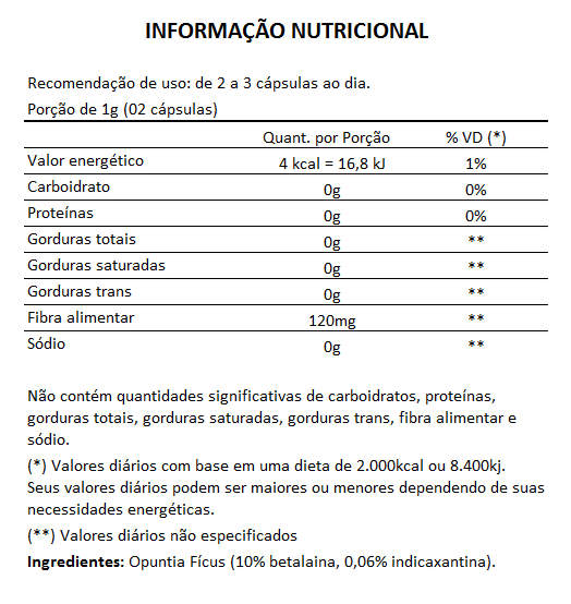 Cactinea Pro 500mg - Original - Opuntia Fícus - 05 Potes  - LA Nature