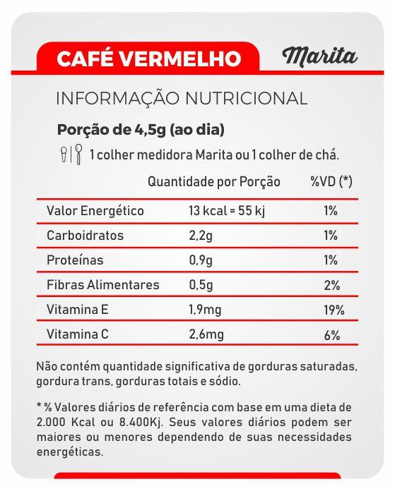 Café Marita Vermelho Original - 06 Latas  - LA Nature