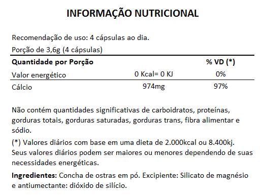 Cálcio de Ostras 900mg - 05 Potes com 60 cápsulas  - LA Nature