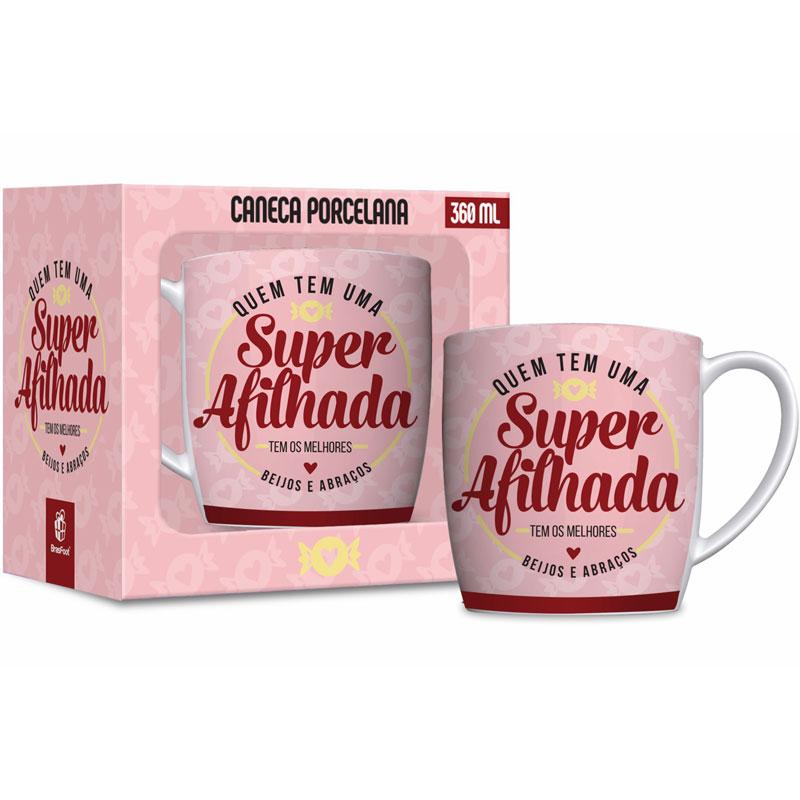Caneca Porcelana - Super Afilhada - 360ml