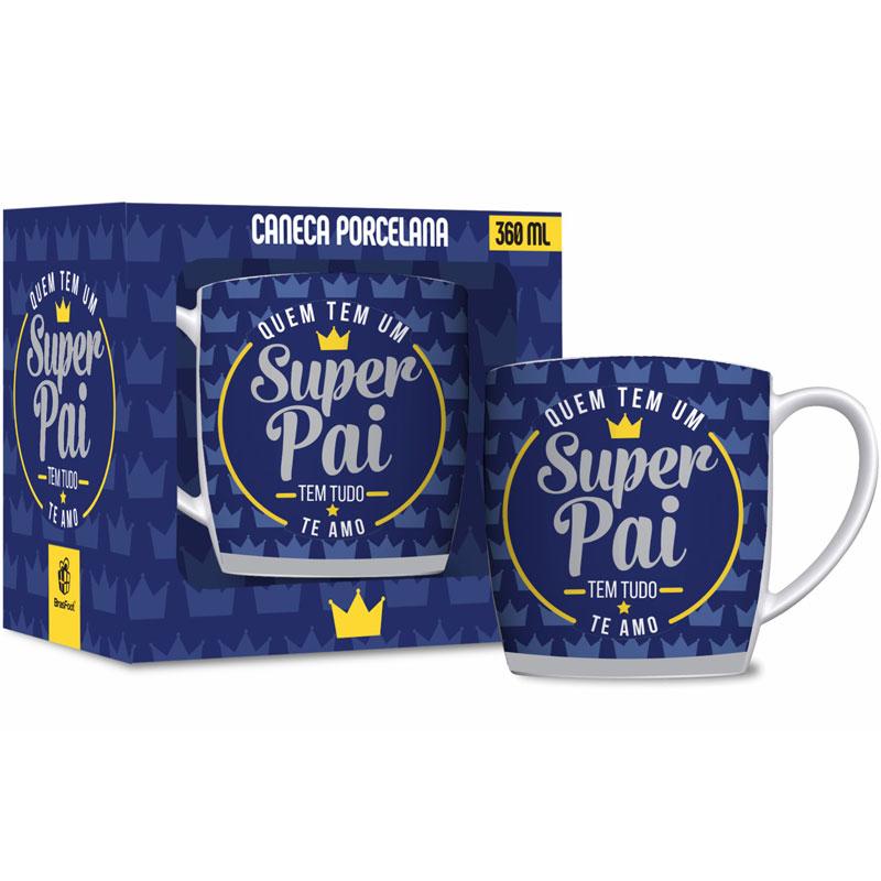 Caneca Porcelana - Super Pai - 360ml