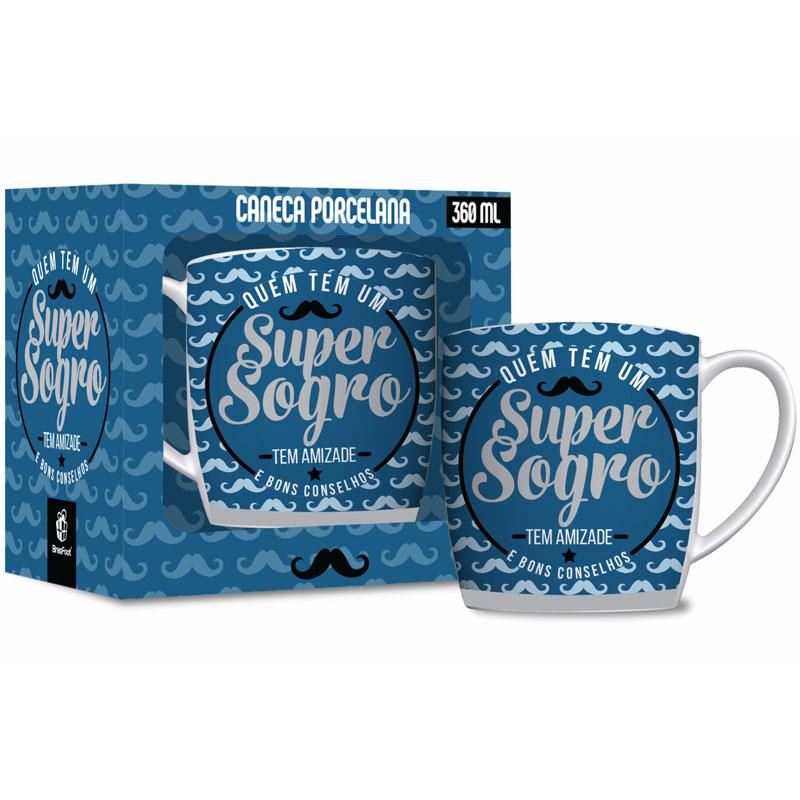 Caneca Porcelana - Super Sogro - 360ml
